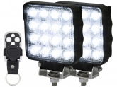 2x LED Arbeitsscheinwerfer 25W mit Fernbedienung