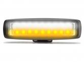 LED Light Bar 18W 1.890lm + LED Warnleuchte