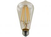 LED Fadenlampe ST64 Edison E27 goldfarben 2W 160 Lumen