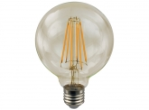 LED Fadenlampe G95 Globe E27 goldfarben 4W 410 Lumen