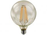 LED Fadenlampe G125 Globe E27 goldfarben 4W 410 Lumen