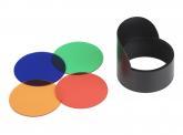 Farbfilterset und Zentrierkappe für Gartenstrahler 3W
