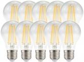 10x LED Fadenlampe Bulb E27 klar 8W 1.055lm 2.700K