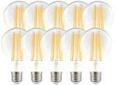 10x LED Fadenlampe A70 Bulb E27 klar 11W 1.521lm 2.700K