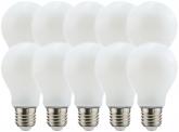 10x LED Fadenlampe Bulb E27 matt 7W 806lm 4.000K