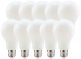 10x LED Fadenlampe A70 Bulb E27 matt 11W 1.521lm 2.700K