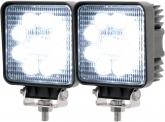 2x LED Arbeitsscheinwerfer eckig 27 Watt 1.620 Lumen