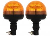 2x LED Rundumleuchte klein mit flexiblem Fuß