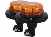 2x LED Rundumleuchte micro mit flexiblem Fuß