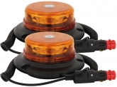 2x LED Rundumleuchte micro mit Magnetfuß