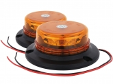 2x LED Rundumleuchte micro mit Aufschraubsockel