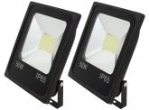 2x SMD LED Fluter flach 50 Watt 4.100 Lumen