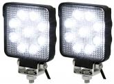 2x LED Arbeitsscheinwerfer 15 Watt 1.250 Lumen IP69K