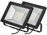 2x SMD LED Fluter kompakt 50W 3.900 Lumen