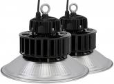 2x LED Hallenstrahler Al Reflektor 100W 13.000 Lumen