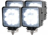 4x LED Arbeitsscheinwerfer eckig 27 Watt 1620 Lumen