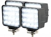 4x LED Arbeitsscheinwerfer 48 Watt 2.880 Lumen 30 Grad