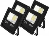 4x SMD LED Fluter flach 10 Watt 800 Lumen