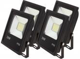 4x SMD LED Fluter flach 30 Watt 2.300 Lumen