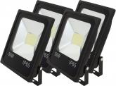 4x SMD LED Fluter flach 50 Watt 4.100 Lumen