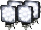 4x LED Arbeitsscheinwerfer 15 Watt 1250 Lumen IP69K
