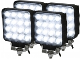 4x LED Arbeitsscheinwerfer 25W 2.100 Lumen IP69K
