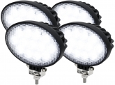 4x LED Arbeitsscheinwerfer 39W 3.120 Lumen