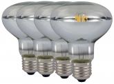4x LED Reflektorlampe R80 E27 klar 8W 680 Lumen