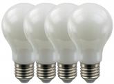 4x SMD LED Lampe A60 Bulb E27 matt 6W 470 Lumen