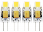 4x G4 LED Stiftsockellampe 12V 1W 120 Lumen tagweiß