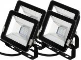 4x SMD LED Fluter kompakt 10 Watt 850 Lumen