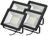 4x SMD LED Fluter kompakt 50W 3.900 Lumen