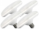 4x AdLuminis LED Low Bay Deckenlampe 12 Watt 1.250 Lumen