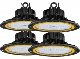 4x LED Hallenstrahler dimmbar 200W 27.300 Lumen
