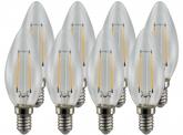 8x AdLuminis LED-Filament Candle C35 klar E14 4W