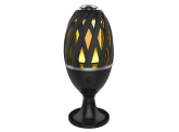 LED Gartenfackel mit Standfuß und Erdspieß