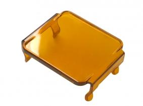 Lichtscheibe in Amber für LED Arbeitsscheinwerfer Würfel