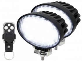 2x LED Arbeitsscheinwerfer 65W mit Fernbedienung
