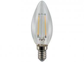 LED Fadenlampe C35 Candle E14 klar 4W 350 Lumen