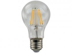 LED Fadenlampe A60 Bulb E27 klar 6W 570 Lumen