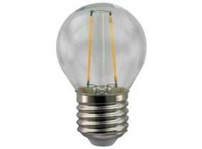 LED Fadenlampe G45 Globe E27 klar 2W 180 Lumen