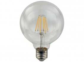 LED Fadenlampe G95 Globe E27 klar 4W 400 Lumen