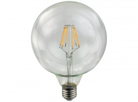 LED Fadenlampe G125 Globe E27 klar 4W 400 Lumen