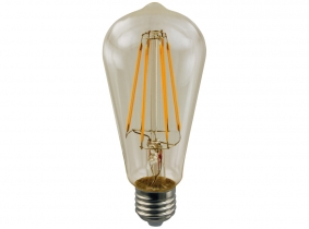 LED Fadenlampe ST64 Edison E27 goldfarben 4W 420 Lumen