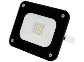SMD LED Fluter 20W 1.800 Lumen Glas Design schwarz