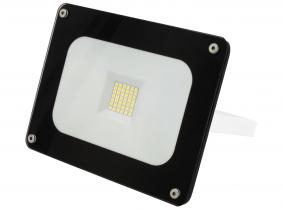 SMD LED Fluter 30W 2.700 Lumen Glas Design schwarz