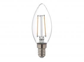 LED Fadenlampe Candle E14 klar 2,5W 250lm 4.000K