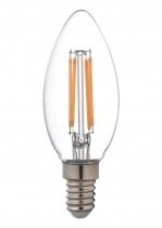 LED Fadenlampe Candle E14 klar 4,5W 470lm 2.000K
