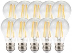 10x LED Fadenlampe Bulb E27 klar 8W 1055lm 4.000K
