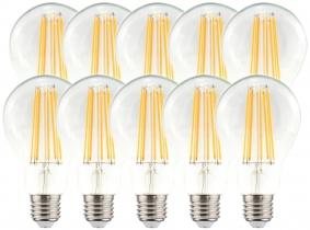 10x LED Fadenlampe A70 Bulb E27 klar 11W 1.521lm 4.000K